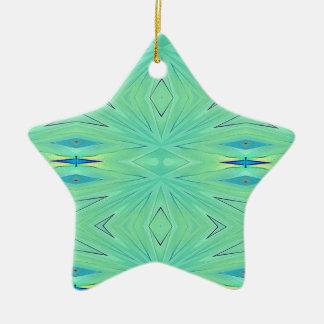Pretty  Mint Green Aqua Pastel Spring Ceramic Ornament