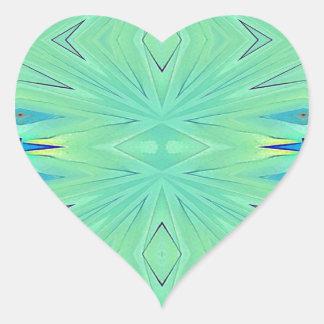 Pretty  Mint Green Aqua Pastel Spring Heart Sticker