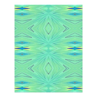 Pretty  Mint Green Aqua Pastel Spring Letterhead