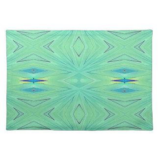 Pretty  Mint Green Aqua Pastel Spring Placemat