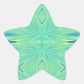 Pretty  Mint Green Aqua Pastel Spring Star Sticker