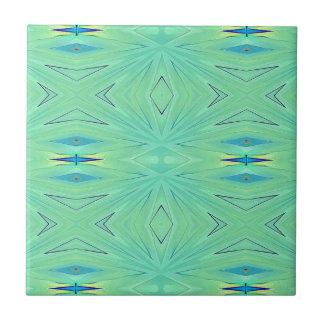 Pretty  Mint Green Aqua Pastel Spring Tile