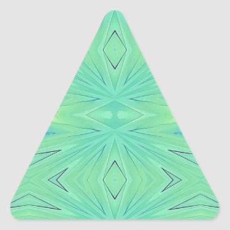 Pretty  Mint Green Aqua Pastel Spring Triangle Sticker
