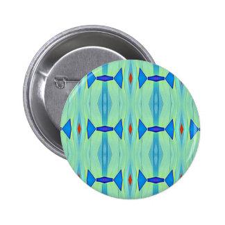 Pretty Mint Green Blue Pastel Pattern 2 Inch Round Button