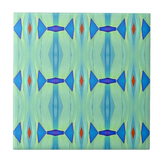 Pretty Mint Green Blue Pastel Pattern Tile