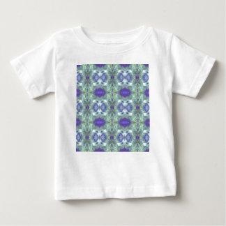 Pretty Mint Green Lavender Pastel Pattern Baby T-Shirt