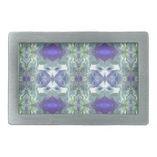 Pretty Mint Green Lavender Pastel Pattern Belt Buckles