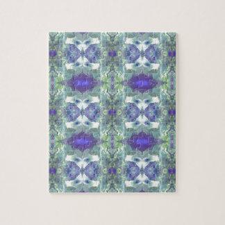 Pretty Mint Green Lavender Pastel Pattern Jigsaw Puzzle
