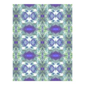 Pretty Mint Green Lavender Pastel Pattern Letterhead Design