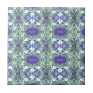 Pretty Mint Green Lavender Pastel Pattern Tile