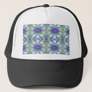 Pretty Mint Green Lavender Pastel Pattern Trucker Hat
