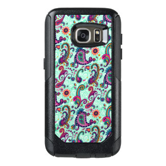 Pretty Mint Paisley OtterBox Samsung Galaxy S7 Case