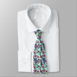 Pretty Mint Paisley Tie