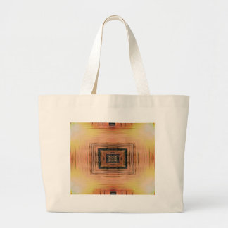 Pretty Mirror Image Lake Sunset Large Tote Bag