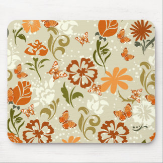 Pretty Modern Floral Pattern Mouse Pad