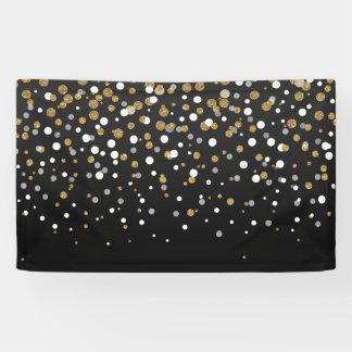 Pretty modern girly faux gold glitter confetti banner