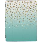 Pretty modern girly faux gold glitter confetti iPad cover