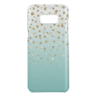 Pretty modern girly faux gold glitter confetti uncommon samsung galaxy s8 plus case