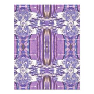 Pretty modern Lavender Pink Pastel Pattern Letterhead