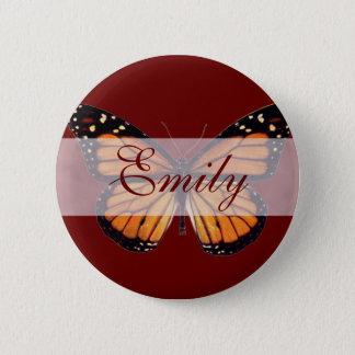 Pretty Monarch Butterfly 2 Inch Round Button