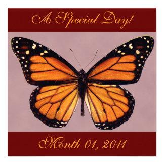 Pretty Monarch Butterfly Invitations