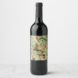 Pretty Monarch Butterfly Wine Label
