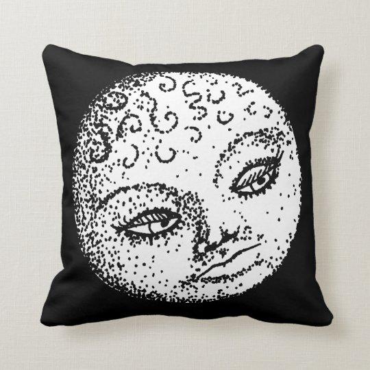 Pretty Moon Face Throw Pillow