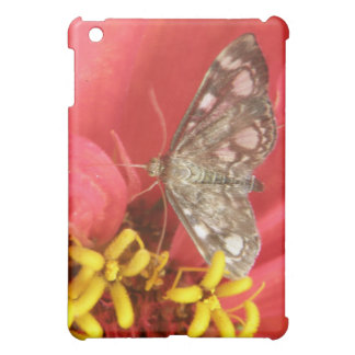 Pretty Moth on Red Flower  iPad Mini Covers