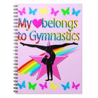 PRETTY MY HEART BELONGS TO GYMNASTICS RAINBOW SPIRAL NOTEBOOK