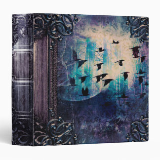 Pretty Mystic Raven Fantasy Ancient Tome Vinyl Binders