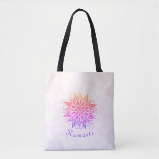 Pretty Namaste Mandala Tote Bag