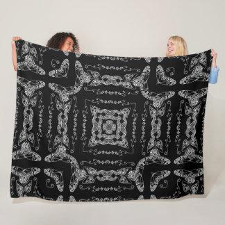 Pretty Namaste Yoga Girl Mandala Fleece Blanket