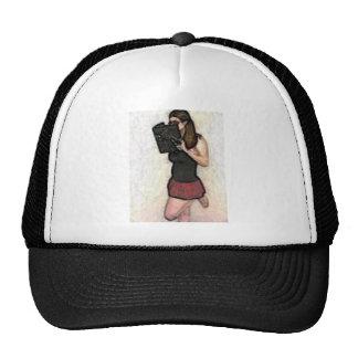 pretty nerdy school girl trucker hats