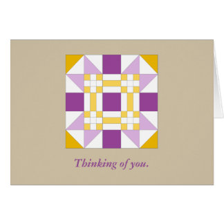 Pretty New Mexico Star Quilt Pattern Note Card