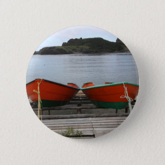 Pretty Newfoundland Boats 2 Inch Round Button