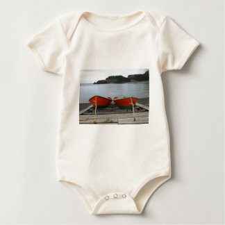 Pretty Newfoundland Boats Baby Bodysuit