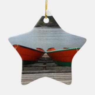 Pretty Newfoundland Boats Ceramic Ornament
