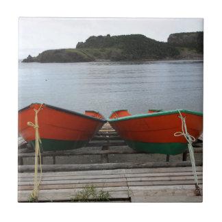 Pretty Newfoundland Boats Ceramic Tile