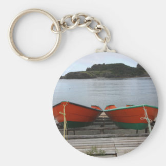 Pretty Newfoundland Boats Keychain