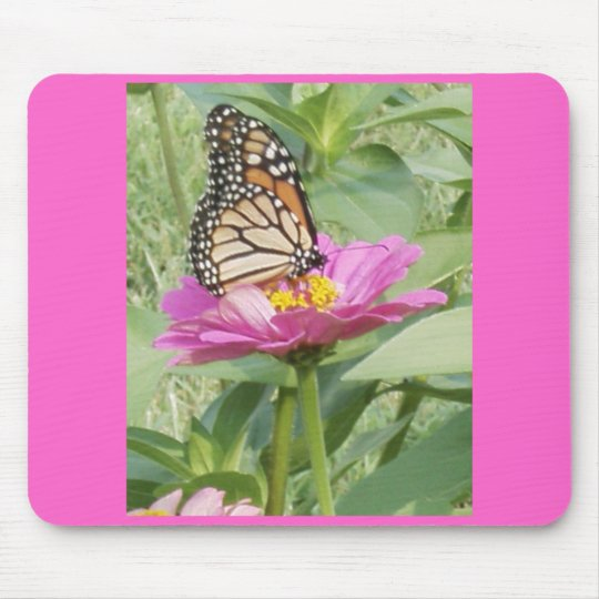 Pretty on pink Butterfly Mouse Pad