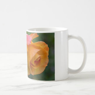 Pretty Orange and Pink Rose Basic White Mug