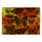 Pretty Orange and Yellow Butterflies Card