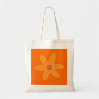Pretty orange cartoon flower bag