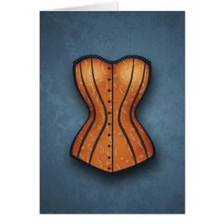 Pretty Orange Corset Card