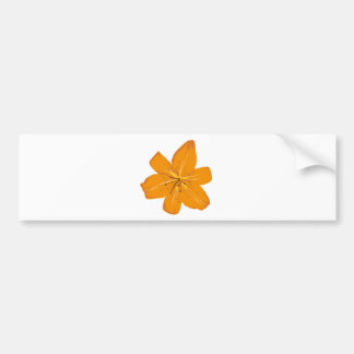 Pretty orange flower bumper sticker