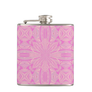 Pretty Orchid Purple Beautiful Abstract Flower Flask