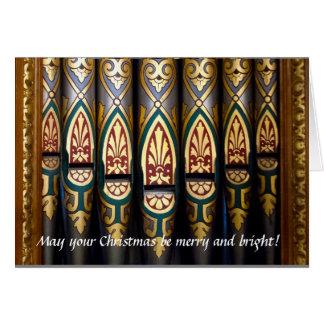 Pretty organ pipes Christmas card