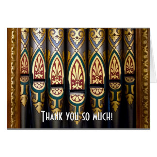 Pretty organ pipes thank you card