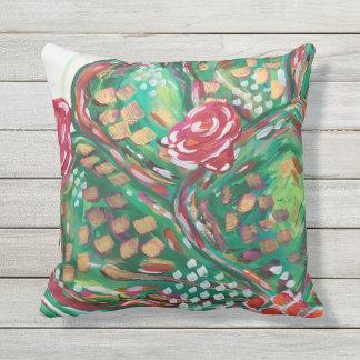 Pretty outdoor pillow/ cactus pillow/ southwest outdoor pillow