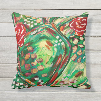 Pretty outdoor pillow/ patio pillows/ summer decor outdoor pillow